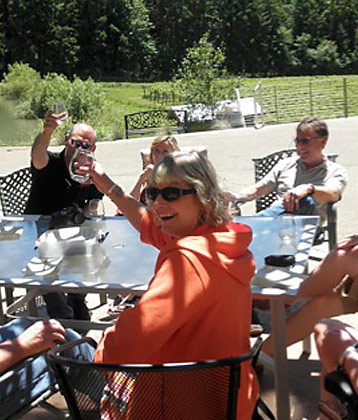 Visitors at Airlie Airlie Winery in Monmouth, Oregon